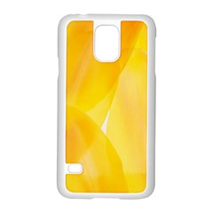 Yellow Pattern Painting Samsung Galaxy S5 Case (white)