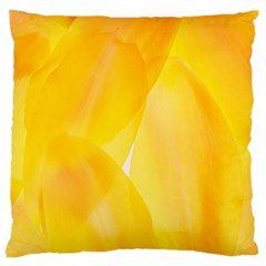 Yellow Pattern Painting Large Flano Cushion Case (one Side)