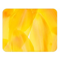 Yellow Pattern Painting Double Sided Flano Blanket (large)