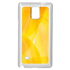Yellow Pattern Painting Samsung Galaxy Note 4 Case (white)