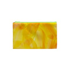 Yellow Pattern Painting Cosmetic Bag (xs)