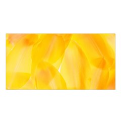 Yellow Pattern Painting Satin Shawl