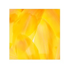 Yellow Pattern Painting Small Satin Scarf (square)