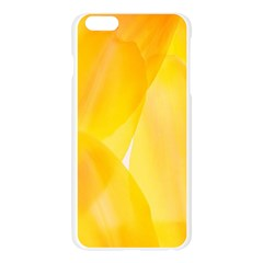 Yellow Pattern Painting Apple Seamless iPhone 6 Plus/6S Plus Case (Transparent)