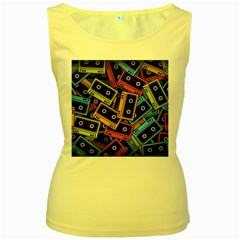Type Pattern Women s Yellow Tank Top