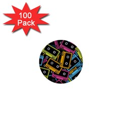 Type Pattern 1  Mini Buttons (100 Pack)