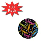 Type Pattern 1  Mini Magnets (100 Pack)