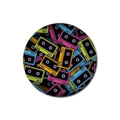 Type Pattern Rubber Coaster (round)