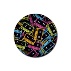 Type Pattern Rubber Round Coaster (4 Pack)