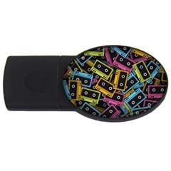 Type Pattern USB Flash Drive Oval (1 GB)
