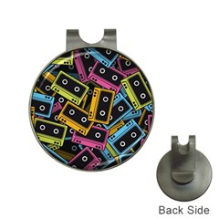 Type Pattern Hat Clips With Golf Markers