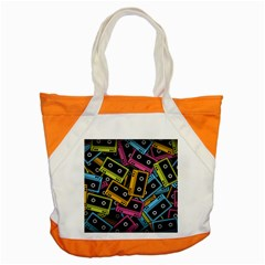 Type Pattern Accent Tote Bag