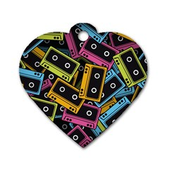Type Pattern Dog Tag Heart (one Side)