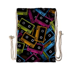 Type Pattern Drawstring Bag (small)