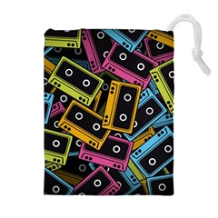 Type Pattern Drawstring Pouches (Extra Large)