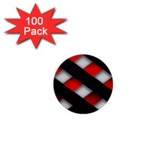 Red Textured 1  Mini Buttons (100 Pack)