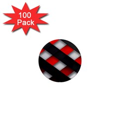 Red Textured 1  Mini Magnets (100 Pack)