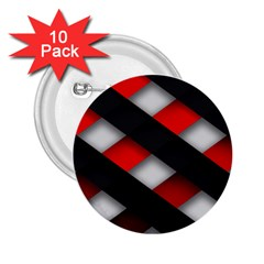 Red Textured 2.25  Buttons (10 pack)