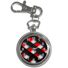 Red Textured Key Chain Watches