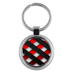 Red Textured Key Chains (Round)