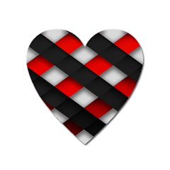 Red Textured Heart Magnet