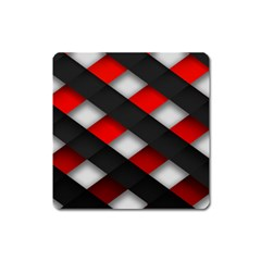 Red Textured Square Magnet