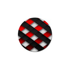 Red Textured Golf Ball Marker (10 Pack)