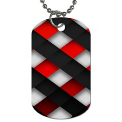 Red Textured Dog Tag (two Sides)