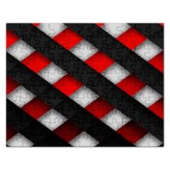 Red Textured Rectangular Jigsaw Puzzl