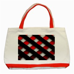 Red Textured Classic Tote Bag (red)