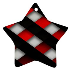 Red Textured Star Ornament (two Sides)