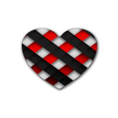 Red Textured Heart Coaster (4 Pack)