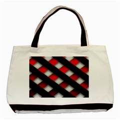 Red Textured Basic Tote Bag (two Sides)