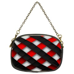 Red Textured Chain Purses (two Sides)