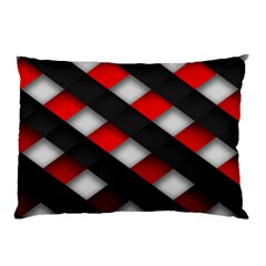 Red Textured Pillow Case