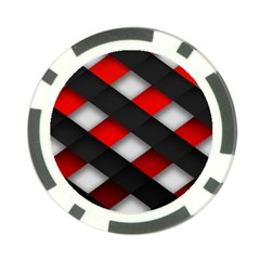 Red Textured Poker Chip Card Guard (10 Pack)