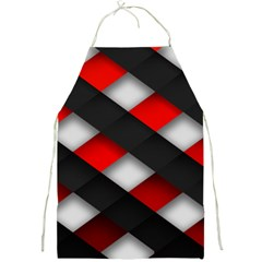Red Textured Full Print Aprons
