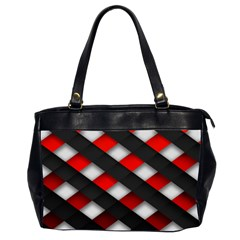 Red Textured Office Handbags (2 Sides)