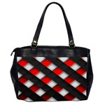 Red Textured Office Handbags (2 Sides)  Back