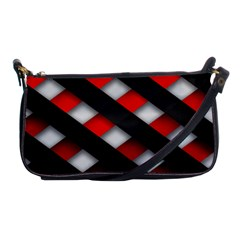 Red Textured Shoulder Clutch Bags