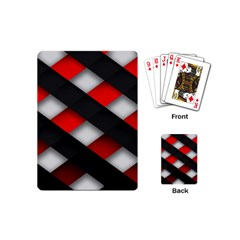 Red Textured Playing Cards (mini)