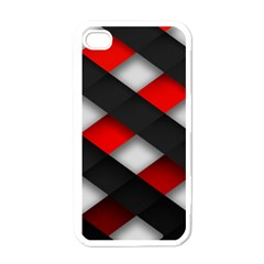 Red Textured Apple Iphone 4 Case (white)