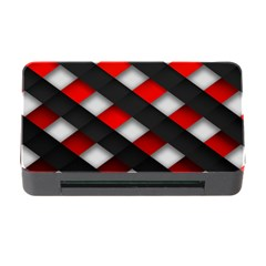 Red Textured Memory Card Reader With Cf