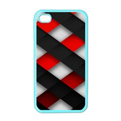 Red Textured Apple Iphone 4 Case (color)