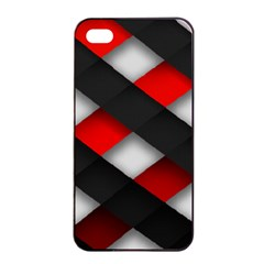 Red Textured Apple Iphone 4/4s Seamless Case (black)