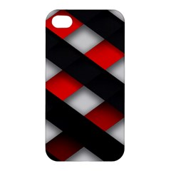Red Textured Apple Iphone 4/4s Hardshell Case
