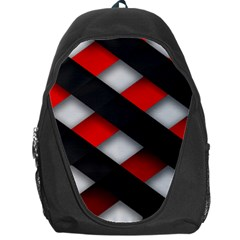 Red Textured Backpack Bag