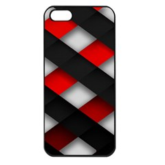 Red Textured Apple Iphone 5 Seamless Case (black)