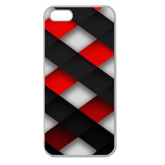 Red Textured Apple Seamless Iphone 5 Case (clear)