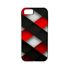 Red Textured Apple Iphone 5 Classic Hardshell Case (pc+silicone)